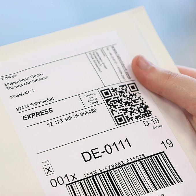 400 Etiketten A4 Bogen 190x61 ablösbar Laser Inkjet 100 Blatt Papier weiß
