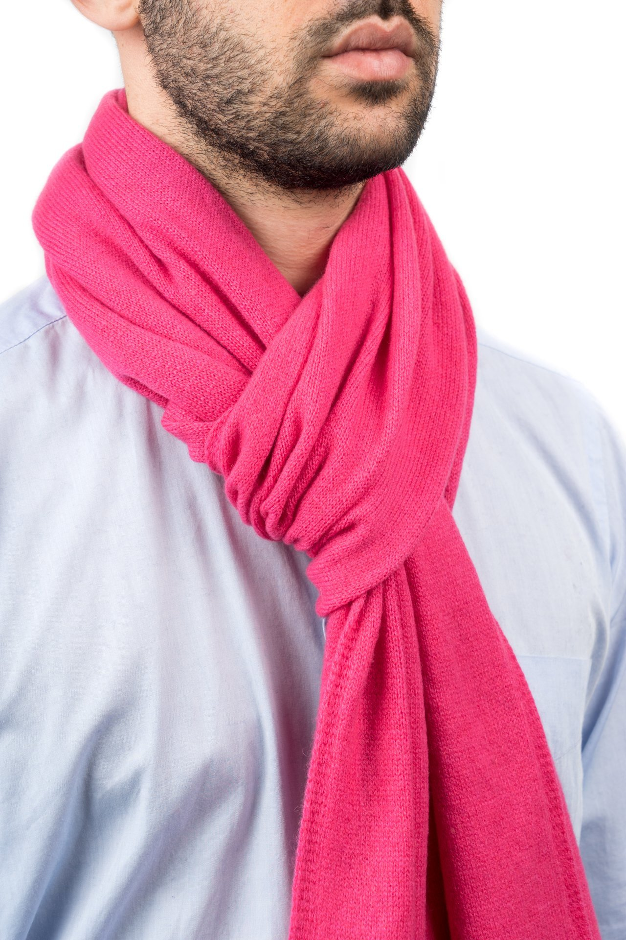 Dalle Piane Cashmere - Scarf 100% cashmere - Made in Italy - Woman/Man, Color: Fuxia, One size