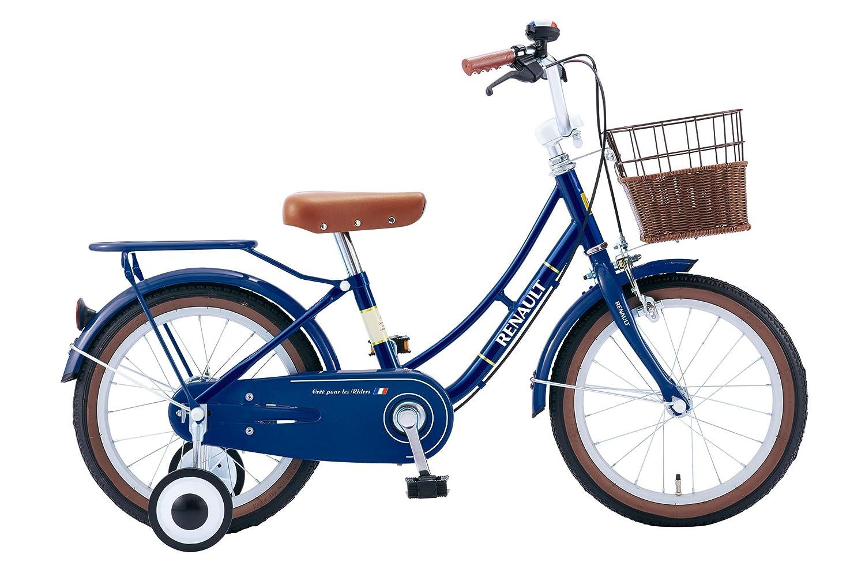 RENAULT(ルノー) KID'S16-Classic ブルー 16インチ 幼児/子供用自転車 またぎやすい低床フレーム設計 【ハンドルパッド/前後泥除け/フルカバーチェーンケース/リアキャリア/取り外し可能補助輪/フロントクラシックバスケット標準装備】 11338-0399   B00OKAGMXU