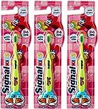 Signal Brosse à Dents Enfant 2-6 Ans x1 - Lot de 3 Coloris Aléatoire