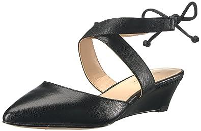 6e5c344ef Amazon.com | Nine West Women's Elira Leather Wedge Pump Black 5.5 M ...