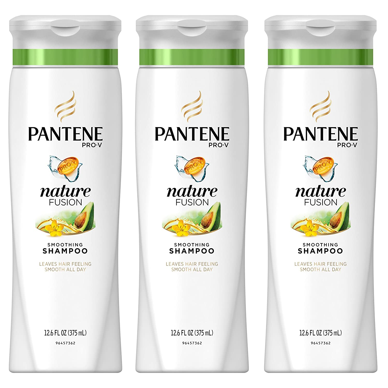 Pantene Pro-V Nature Fusion Smoothing Shampoo with Avocado Oil 12.6 fl oz (Pack of 3)
