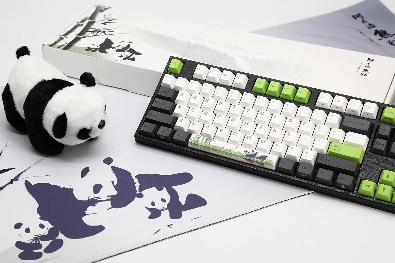 Varmilo Gaming 87 Key Cherry Silver Mx Switches Panda three-color PBT Keycaps Dye Sublimation Printing white LED lights Mechanical Gaming Keyboard VA87M