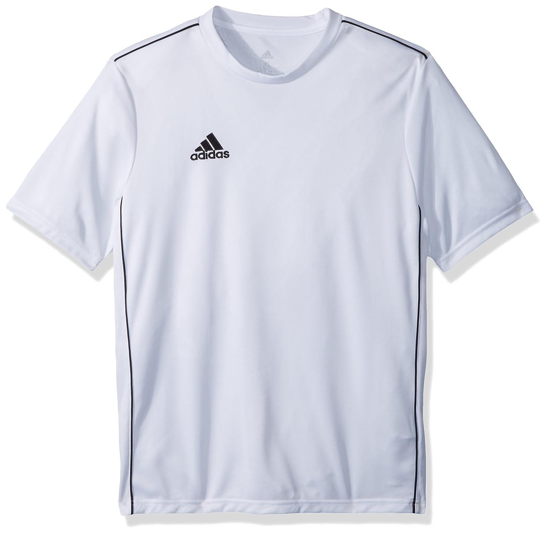 Adidasユニセックスユースサッカーcore18トレーニングジャージー B071NM4ZFF Large|ホワイト/ブラック ホワイト/ブラック Large