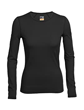 Icebreaker OASIS CREWE - Camiseta básica - black D7eo15pJVV