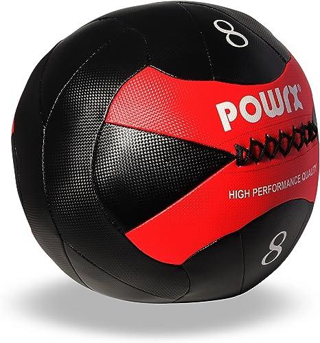 POWRX – Wall Ball Balón medicinal 2 kg, 3 kg, 4 kg, 5 kg, 6 kg, 7 ...