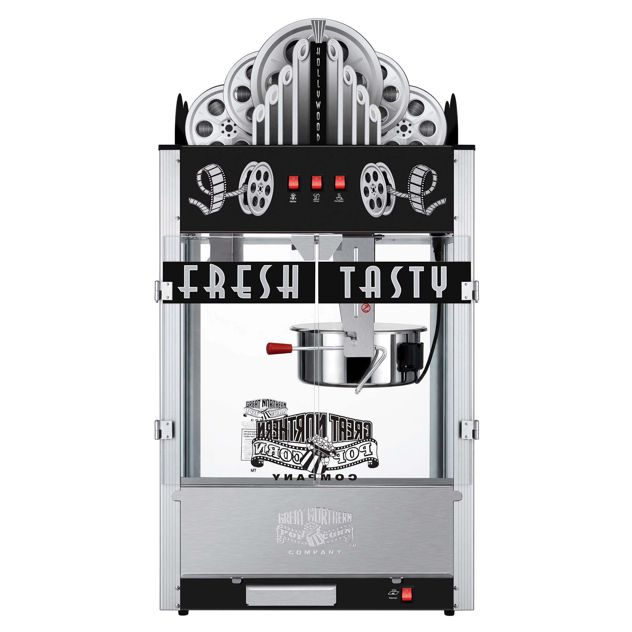 Great Northern 83-NA6006 Northern 20 Ounce Black Commercial Style Popcorn Machine, Movie Theater Marquee Popper