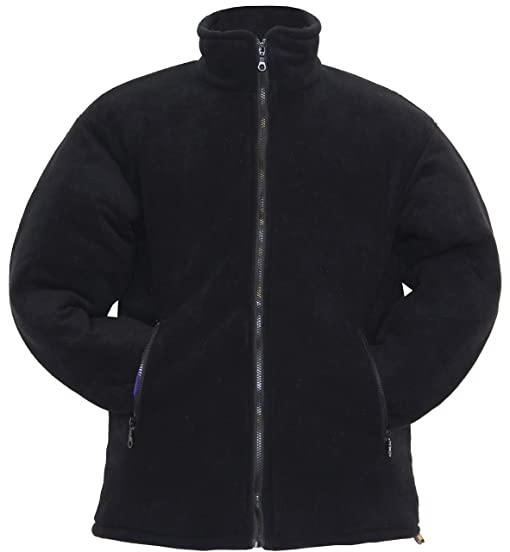 MEN'S / LADIES THICK QUILTED PADDED WARM ANTI PILL FLEECE JACKET ...