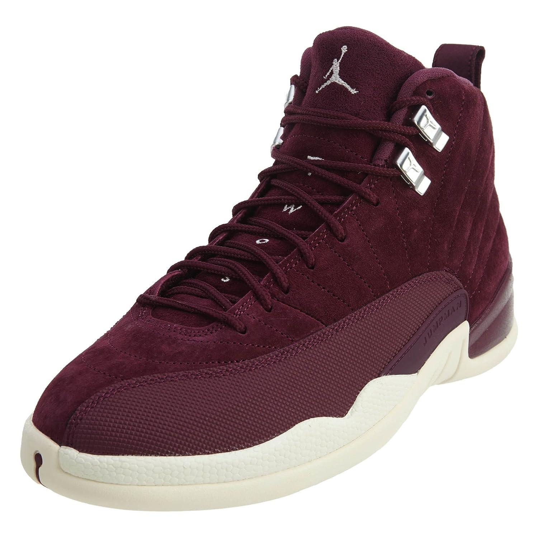 JORDAN 12 RETRO Mens Sneakers 130690-617 B075ZHBW2X 11.5 M US|Bordeaux/Sail-Metallic Silver