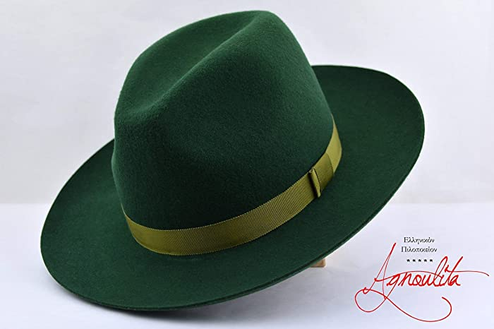 ee788b7012e39b Amazon.com: The Mossman - Wool Felt Fedora Hat - Wide Brim - Men Women:  Handmade