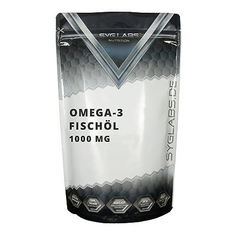 Syglabs Nutrition Omega 3, 1000 mg, 1000 Kapseln, 1er Pack (1 x 1.37 kg)
