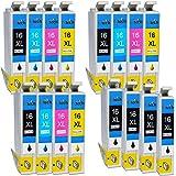 Compatible Ink Cartridges for Epson workforce WF-2520NF, Epson workforce WF-2530WF, Epson workforce WF-2010W, Epson workforce WF-2510WF, Epson workforce WF-2540WF, Epson workforce WF-2630WF, Epson workforce WF-2650DWF, Epson workforce WF-2660DWF Printers - Replace Epson 16XL Ink Cartridges (3 Sets + 4 Black)
