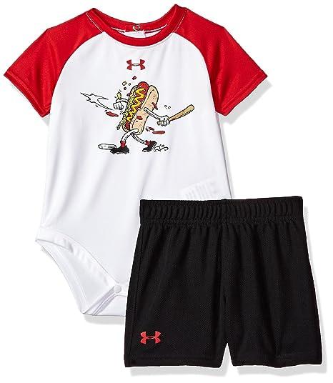 7decce3f Amazon.com: Under Armour UA Home Run Hot Dog Raglan Set — Newborn ...