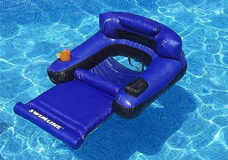 Amazon Com Swimline Floating Lounge Chair Toys Games