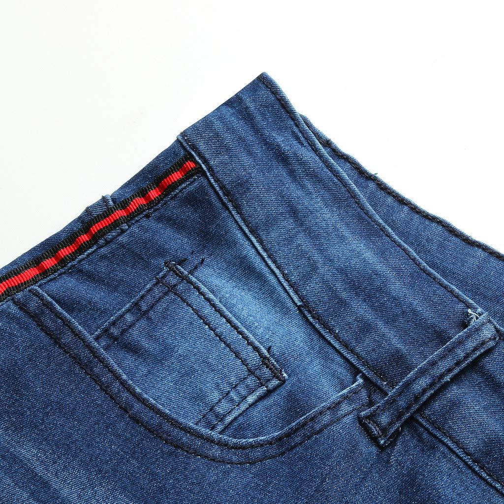 Verano para Hombres Pantalones Vaqueros con Piercing En La ...