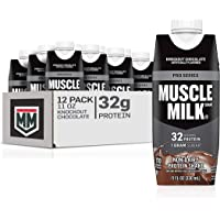 12-Count Muscle Milk Pro Series Protein Shake, Knockout Chocolate