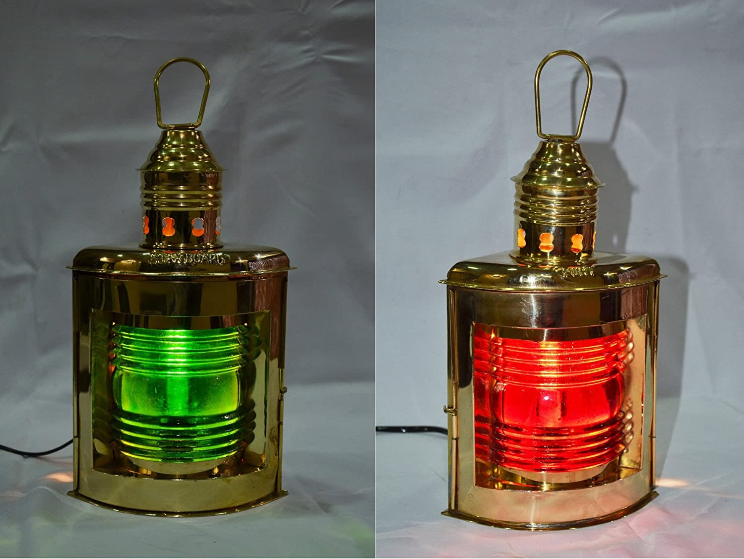 10/'/'New Green Oil Lamp Antique Style Brass Lantern ~Nautical Navy Ship Handmade.