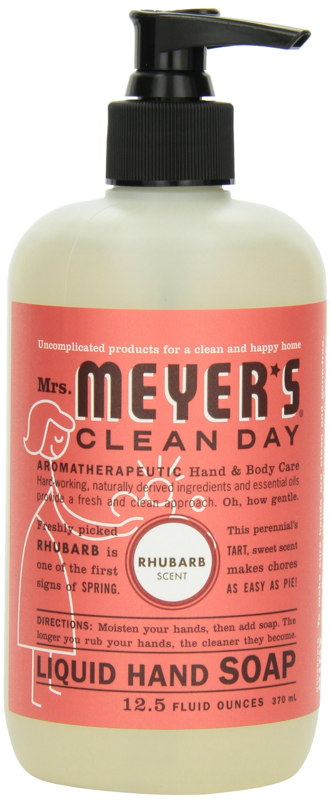 Mrs. Meyer's Clean Day Liquid Hand Soap, Rhubarb, 12.5 Fluid Ounce (Pack of 2)