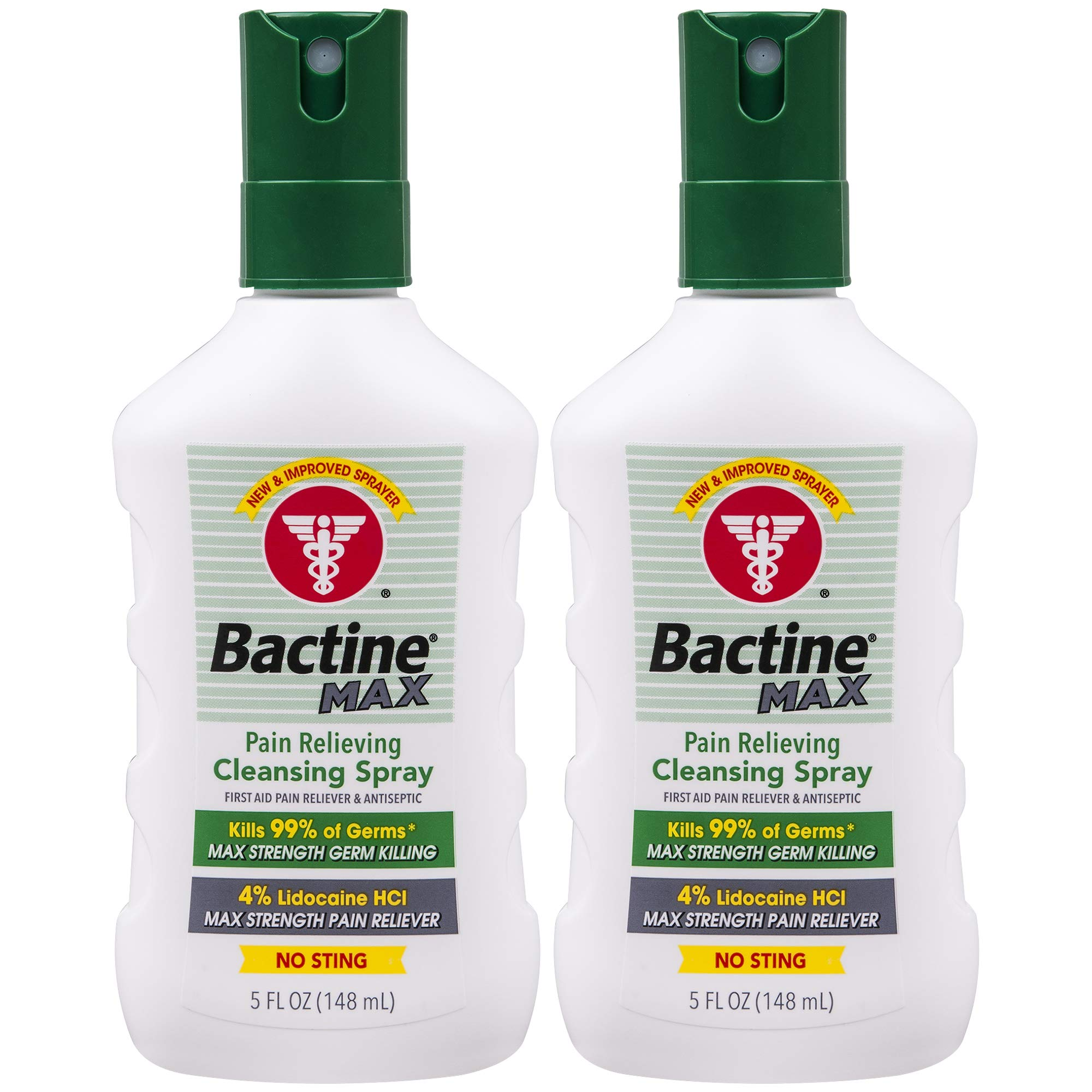 Bactine Max Pain Relieving Cleansing Spray, 5 Oz, 2Count by Bactine