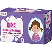50 PCS Kids Baby Boys Girls Masks Disposable 3 Layers Children Mask Dust proof Breathable Face Protection with Meltblown…
