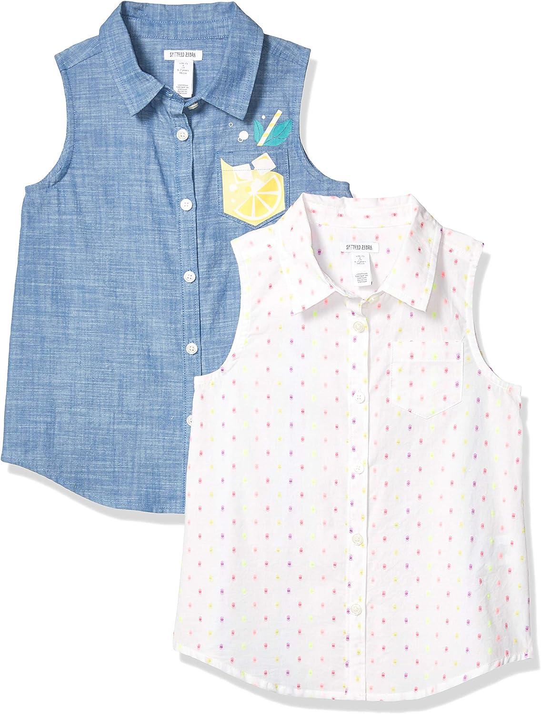 Spotted Zebra Girls Toddler /& Kids 4-Pack Sleeveless Tank Tops Brand