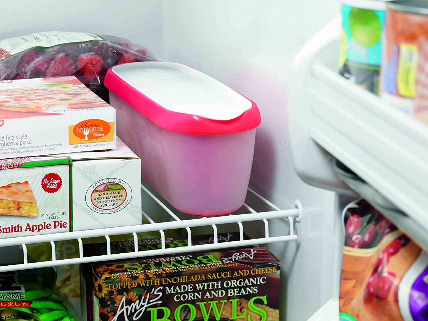 amazon com tovolo glide a scoop ice cream tub strawberry sorbet