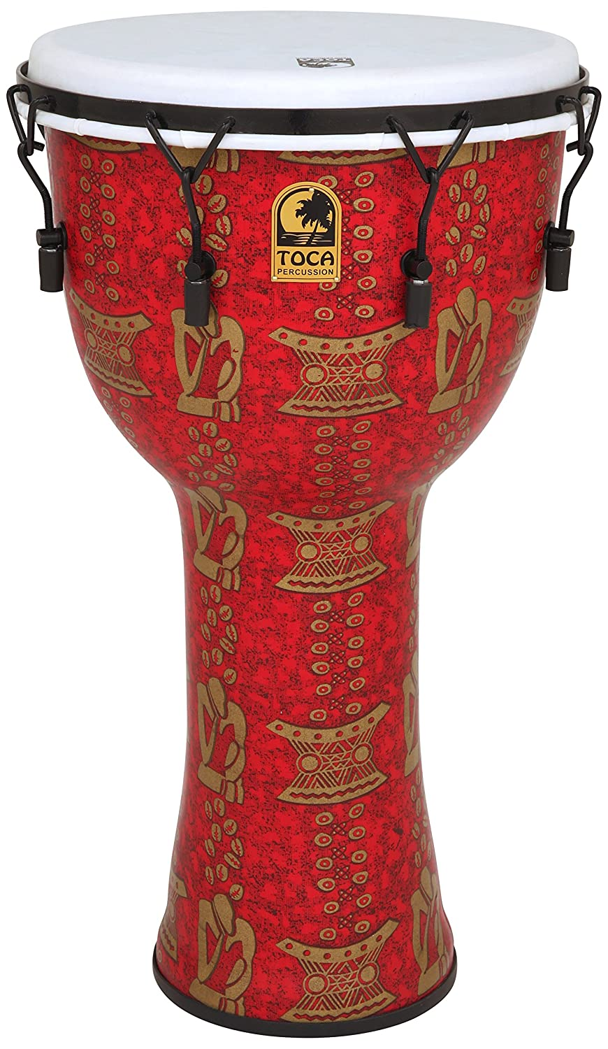 Toca TF2DM-14TB FreeStyle II 14-Inch Mechanically Tuned Djembe with Bag, Thinker by Toca   B00MI2L46M
