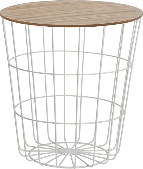 Meinposten Beistelltisch Tisch Mit Stauraum O 39 Cm H 41 Cm Metall