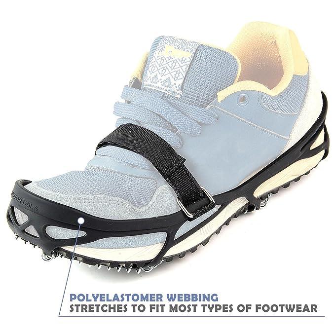 Hiker Schuhkrallen Steigeisen Anti-Rutsch Spikes Schneekette Snow Grips f/ür Bodenhaftung auf Eis und Schnee Walking Jogging Pawaca Schuhspikes