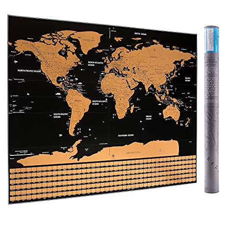 Amazon scratch off world map 32 x 23 office products scratch off world map 32quot gumiabroncs Images