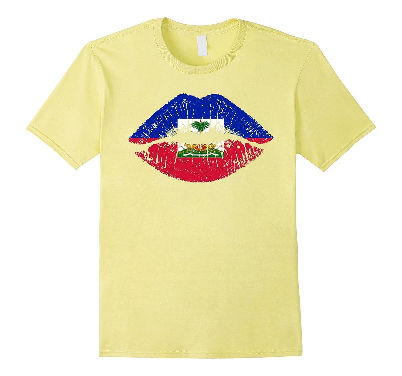 91287e31b Haiti flag kiss funny gifts Tshirts-TJ – theteejob