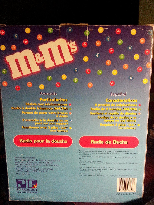 Amazon.com: M&Ms M&M M & M Shower Radio Scuba Diver AM FM: Home Audio & Theater