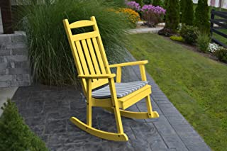 product image for Furniture Barn USA Outdoor Poly Classic Porch Rocker - Lemon Yellow