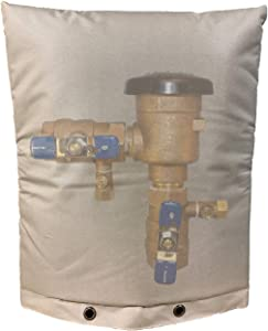 """Inshere Outdoor Backflow Winter Cover Protection, Insulated Cover Pouch for Irrigation Backflow Valve, Sprinkler Valves in Snow or Sun Exposure, Waterproof Winterizing Backflow Preventers 16""""x 20"""""""
