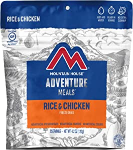 Mountain House Rice & Chicken | Freeze Dried Backpacking & Camping Food | Survival & Emergency Food | Gluten-Free