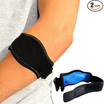 3e67b8857a Amazon.com: Eulay Tennis Elbow Brace (2-Pack) with Compression Pad ...