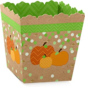 Big Dot of Happiness Pumpkin Patch - Party Mini Favor Boxes - Fall, Halloween or Thanksgiving Party Treat Candy Boxes - Set of 12