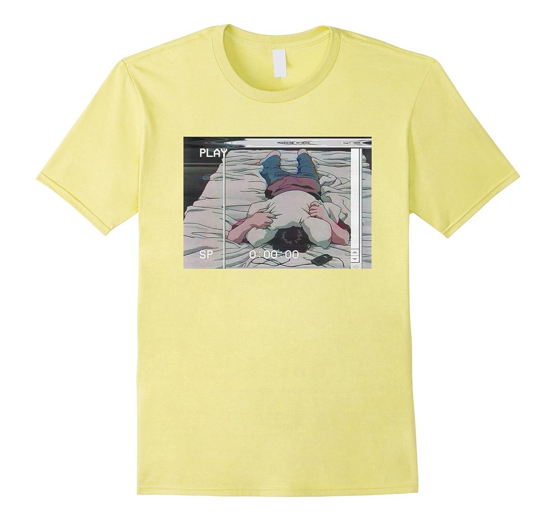 Vaporwave Christmas Sweater.Retro Japanese Anime Sad Boy Vaporwave T Shirt Rose