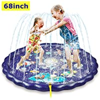 "Sprinkler & Splash Play Mat, 68"" Large Wading Pool Toy for Kids, Small Pool for Kids, Toddler Outdoor Water Play Sprinklers, Kids Pool for 1 2 3 4 5 Year Old Toddlers, Kids, Boys, and Girls."