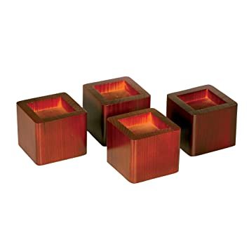 wood bed risers lift table furniture lifts storage mahogany set of 4 amazoncom furniture 62quot industrial wood