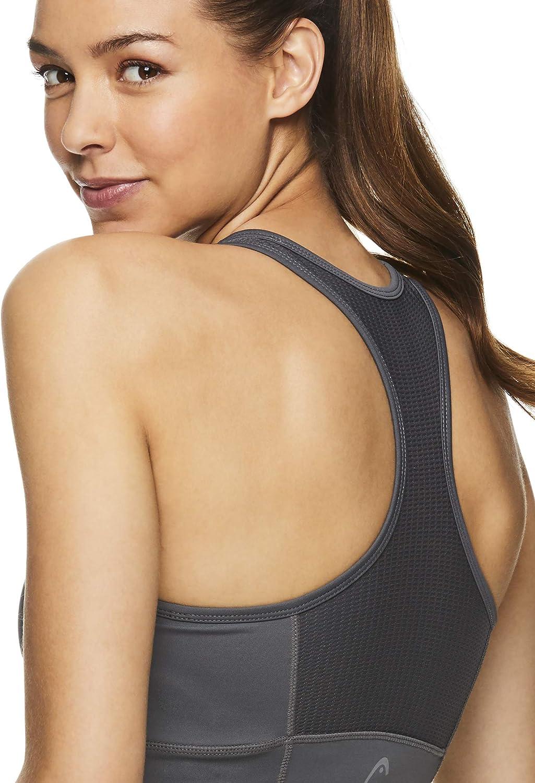 HEAD Womens Valiant Racerback Workout Tank Top w//Built in Shelf Sports Bra