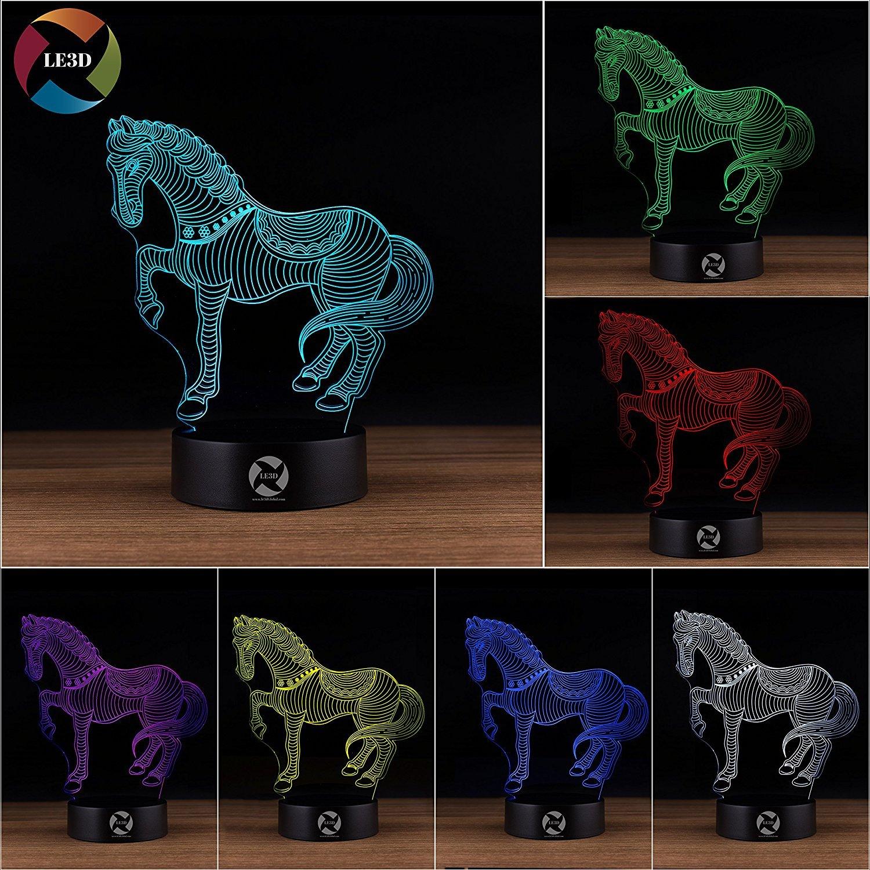 3D ナイトライト B071G8XTNG 10609 馬 馬