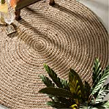 Delightful Fair Trade Rund 100% Geflochtenen Jute Teppich, Textil, Beige, 90 Diameter Good Looking