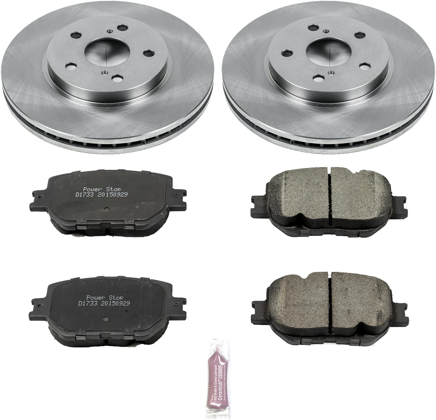 Autospecialty KOE6991 Daily Driver OE Brake Kit Z16 Pads and OE Replacement Power Stop Rotors