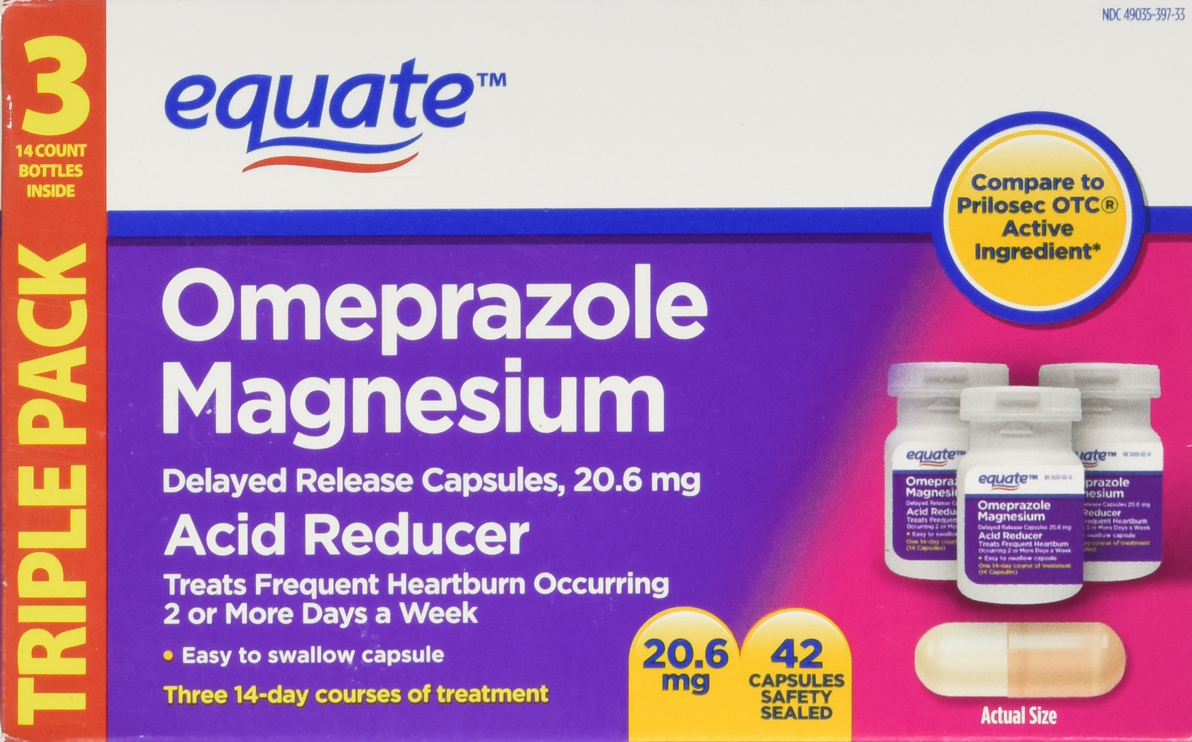 Amazon Com Equate Acid Reducer Omeprazole Magnesium 20 6