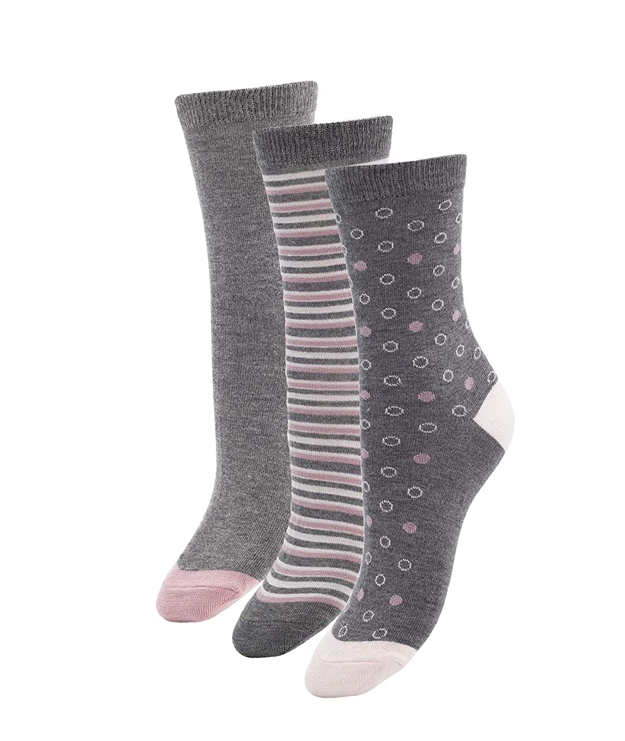 Super Soft Antibacterial /& Breathable /& Durable 3 or 6 Pairs Womens Bamboo Crew Socks Shoe Size 6-10