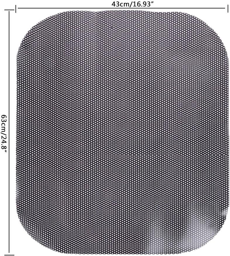 COLUDOR 2pcs Car Sun shade UV Electrostatic Stickers Car Sunscreen Window film 63x43cm