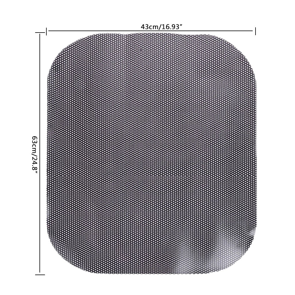 Qiuxiaoaa 2 Piezas Coche Parasol Sombra UV Pegatinas electrost/áticas Coche Protector Solar pel/ícula de Ventana 63x43 cm,