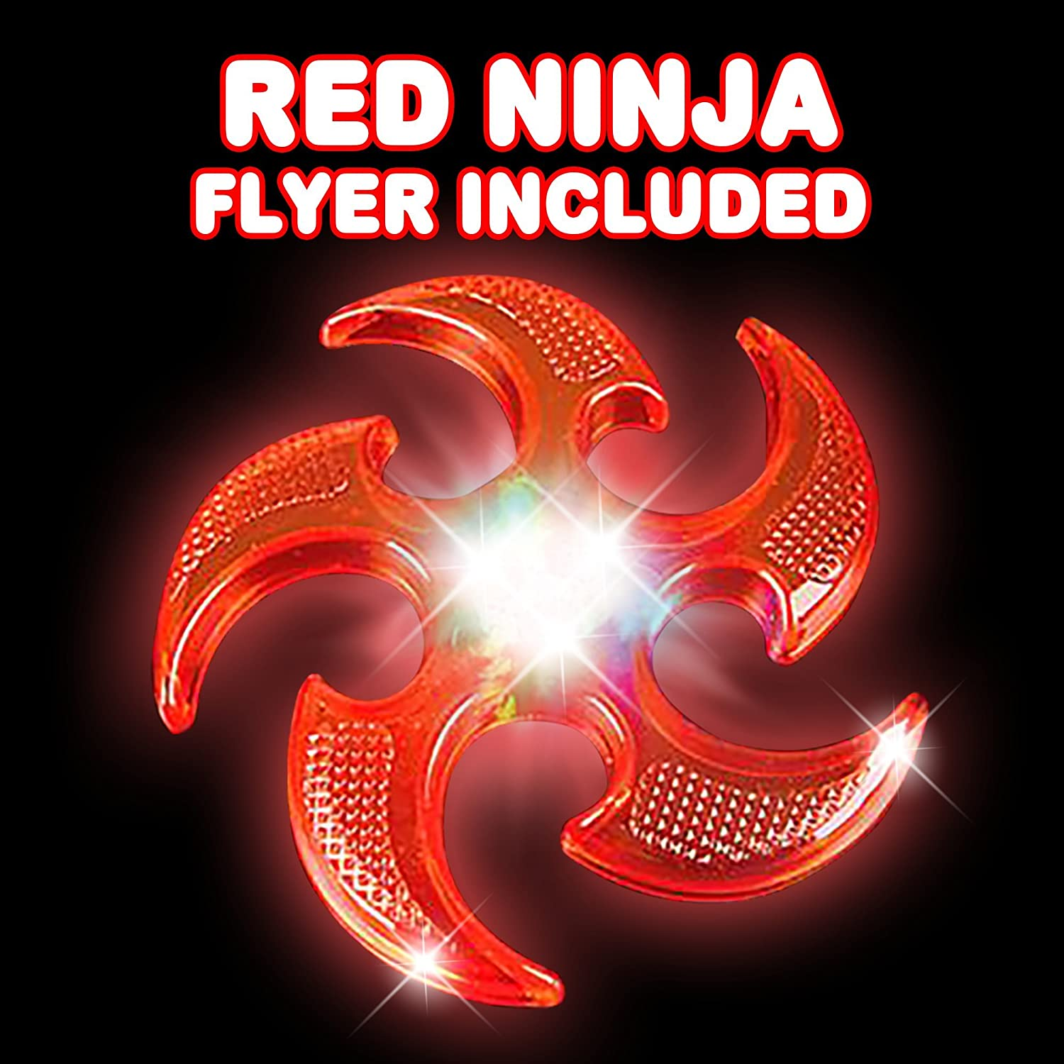 Amazon.com: ArtCreativity Light Up Ninja Flyers Set (Paquete ...