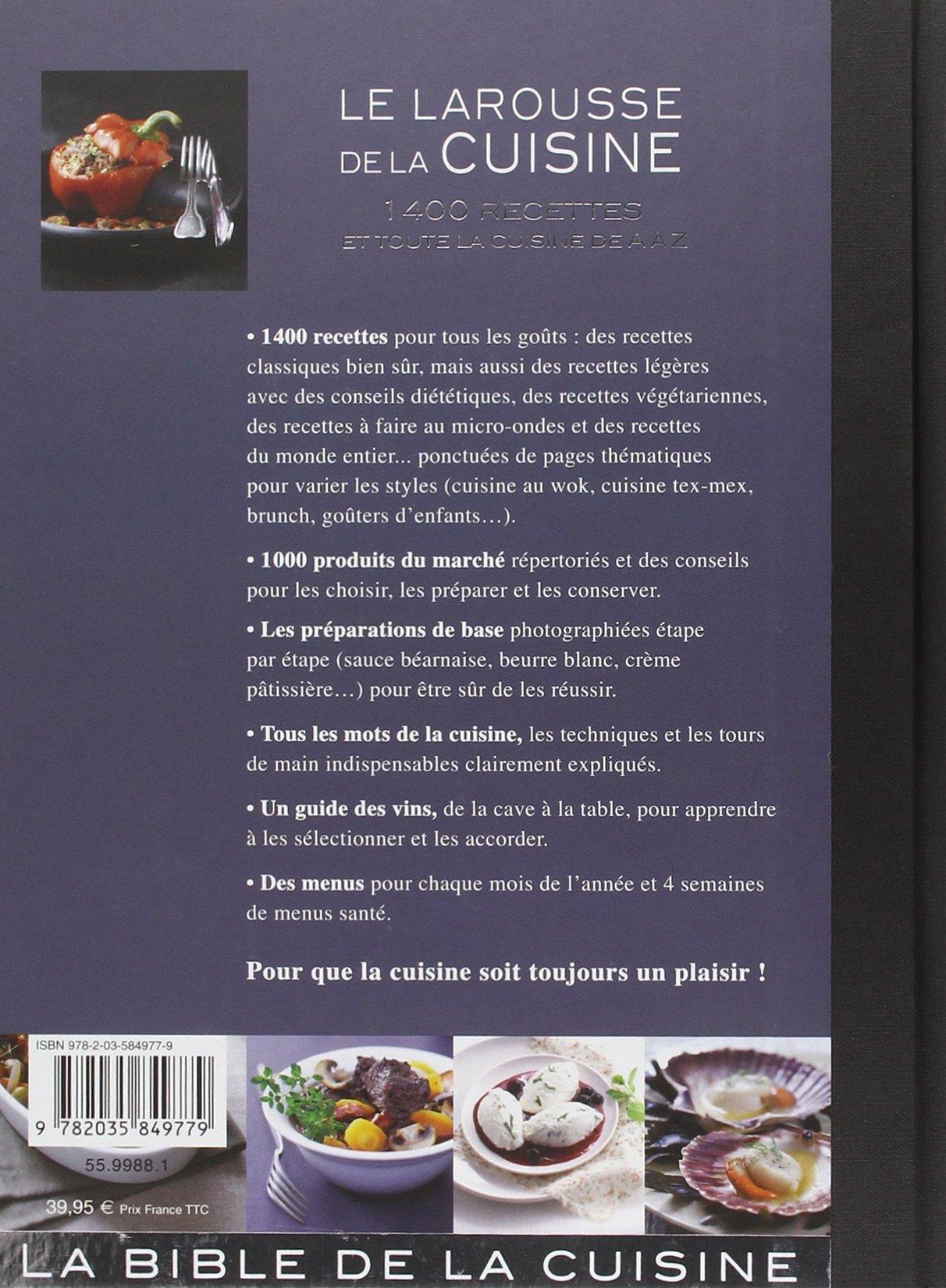 Le Larousse De La Cuisine French Edition Laure Flavigny